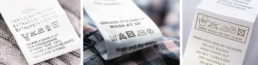 печать на ярлыках одежды